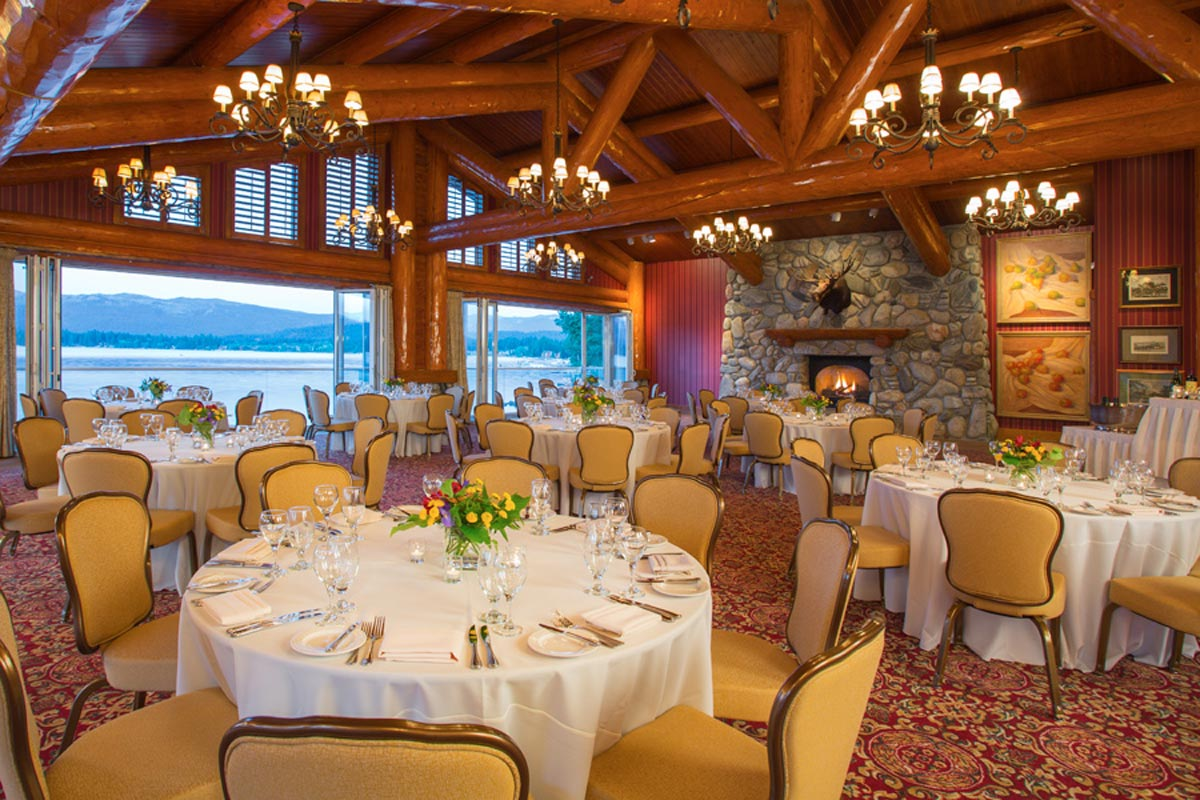 dining at shore lodge in mccall idaho