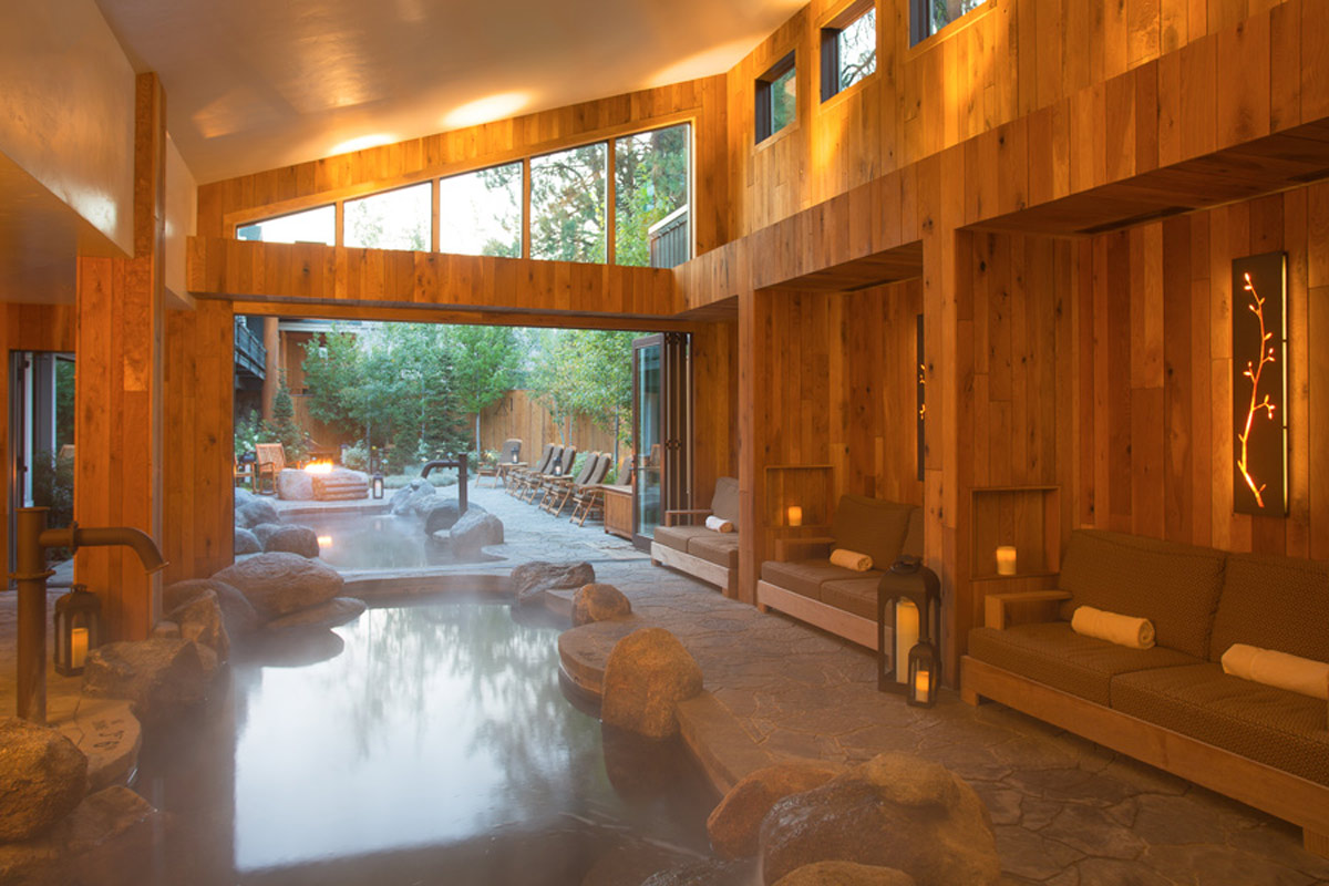 spa inside shore lodge in mccall idaho