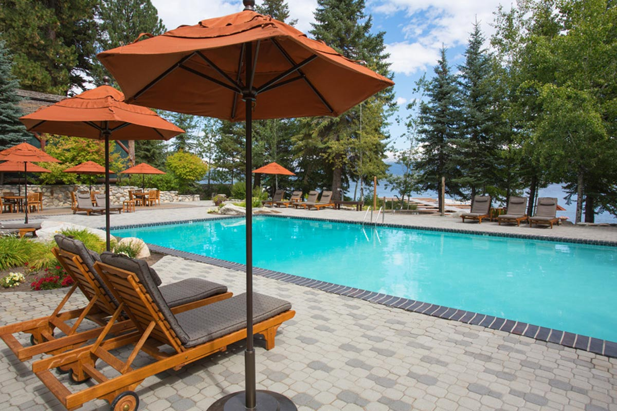 swimming pool at Shore Lodge in mccall idaho