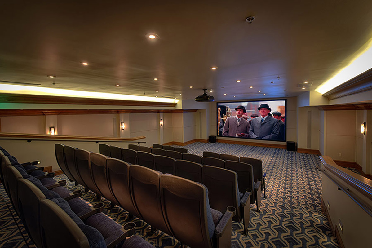 movie theater in shore lodge in mccall idaho
