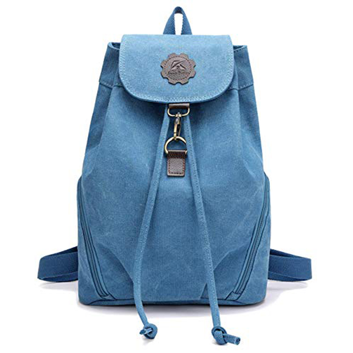 blue travel satchel
