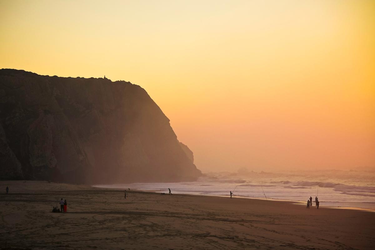 Sintra beach lisbon portugal