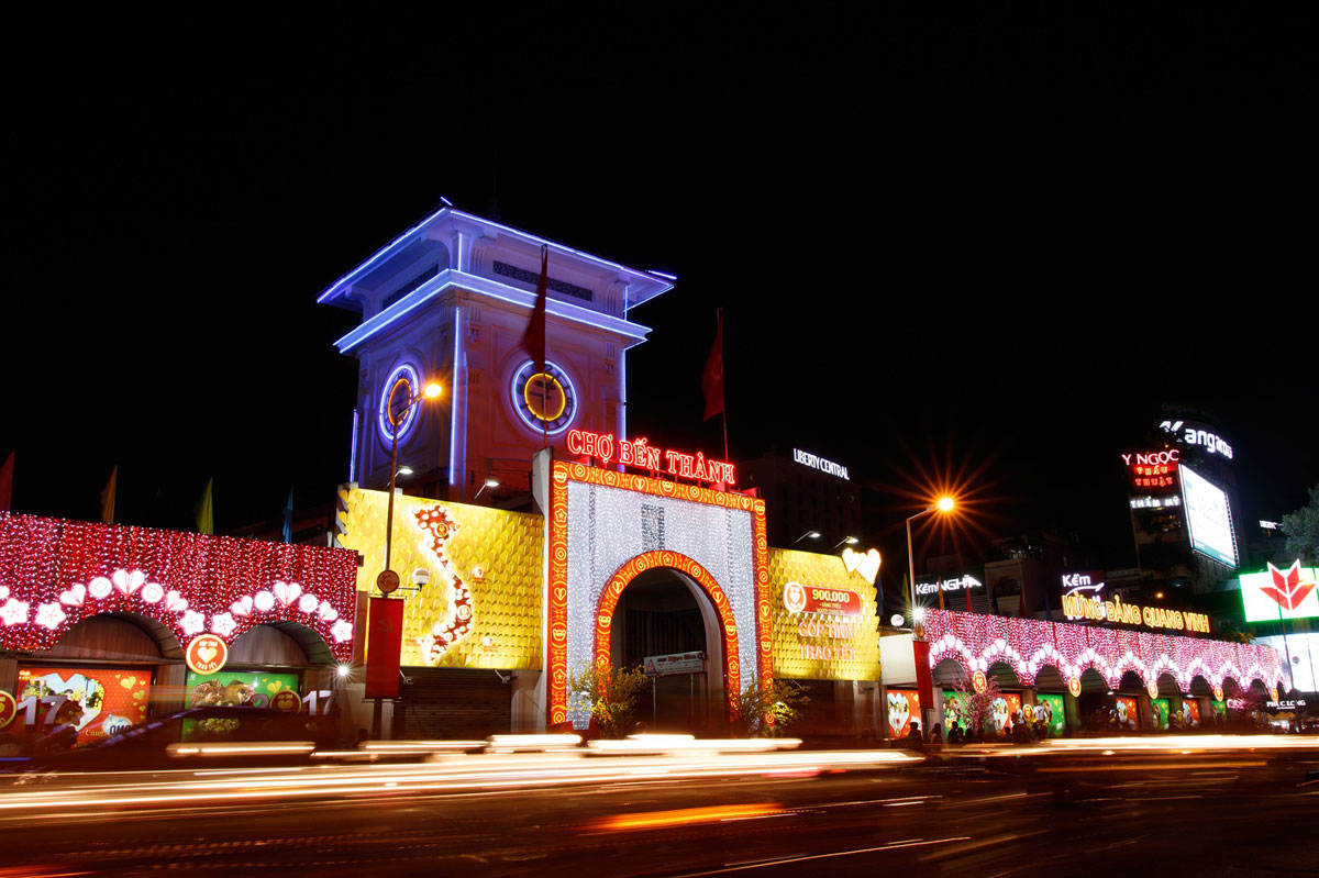 ben thanh market ho chi minh vietnam