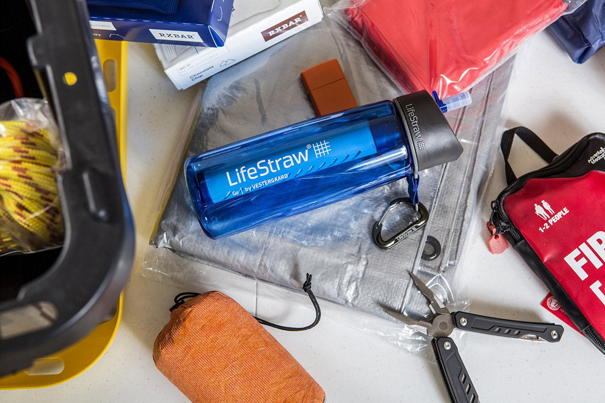 lifestraw water bottle with filter for travel