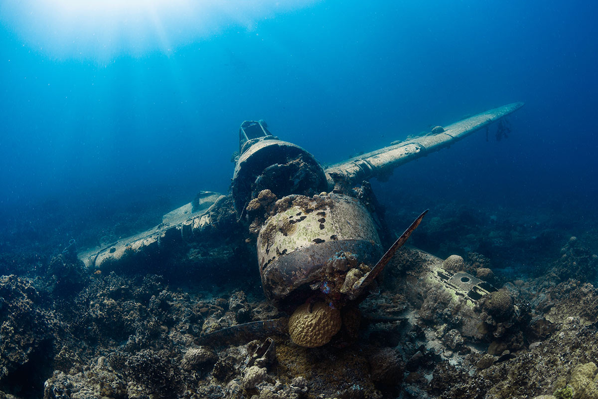 scuba diving wreck site