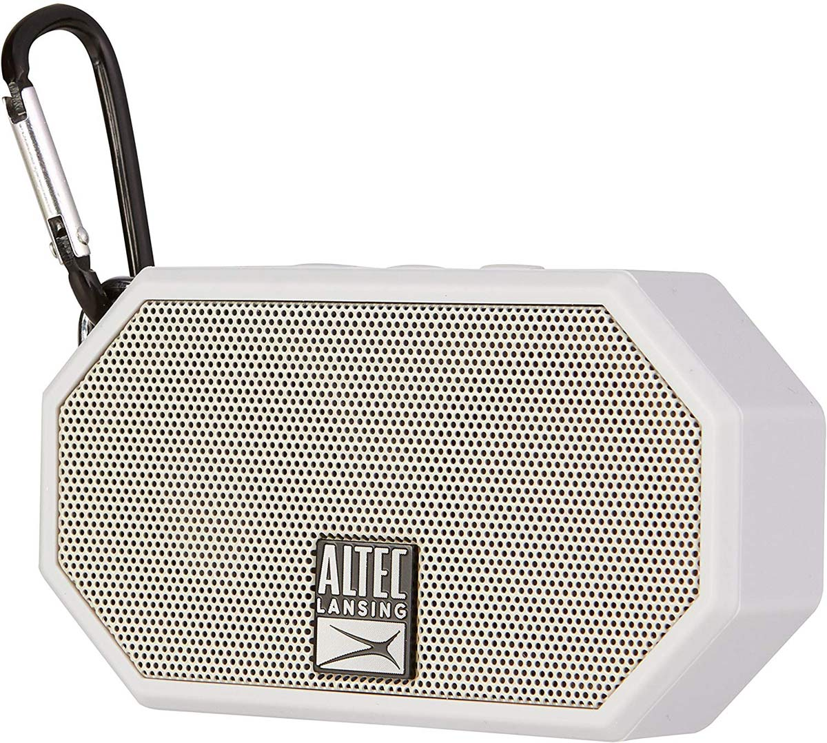 portable wireless bluetooth speaker with carabiner